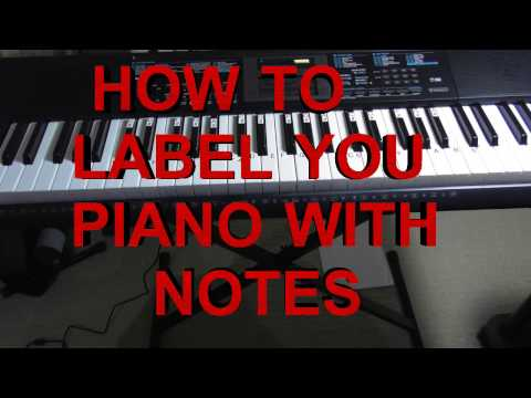 How To Label Your Keyboard / Piano With Letters - Black & White Keys