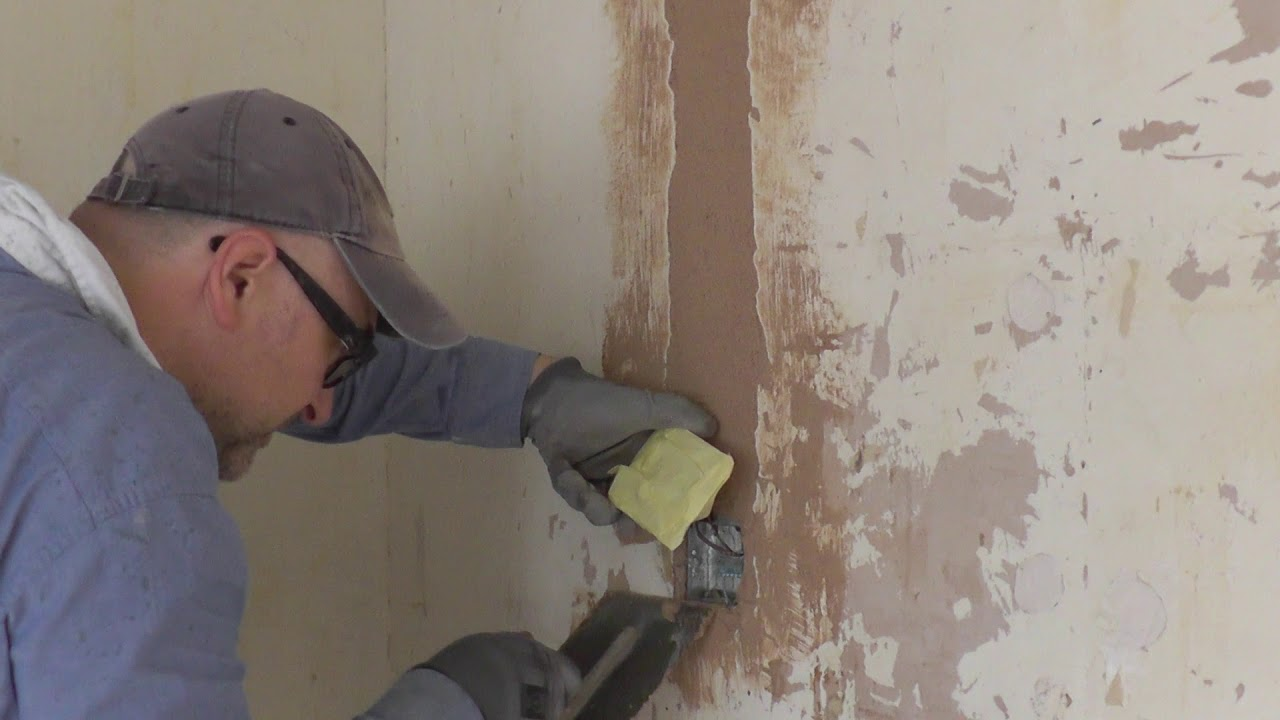 How To Fill In Electrical Chases, Cracked And Damaged Plaster - Part 1