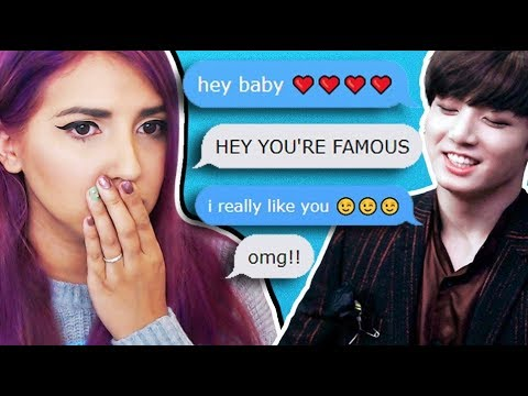 *TALKING TO K-POP STARS* CREEPY TEXT MESSAGE APP (MyDol)