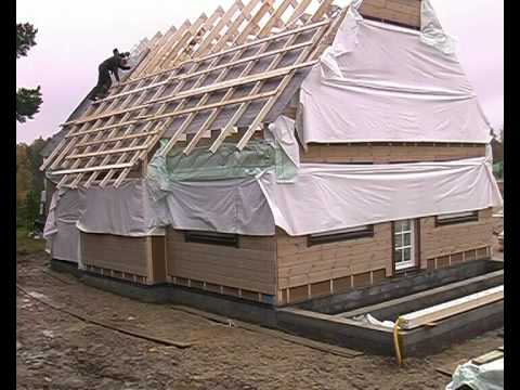 Timberworks Europe Ltd. Ecological ThermoLog Panel house 3 days build