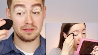 Husband Tries Following My Makeup Tutorial