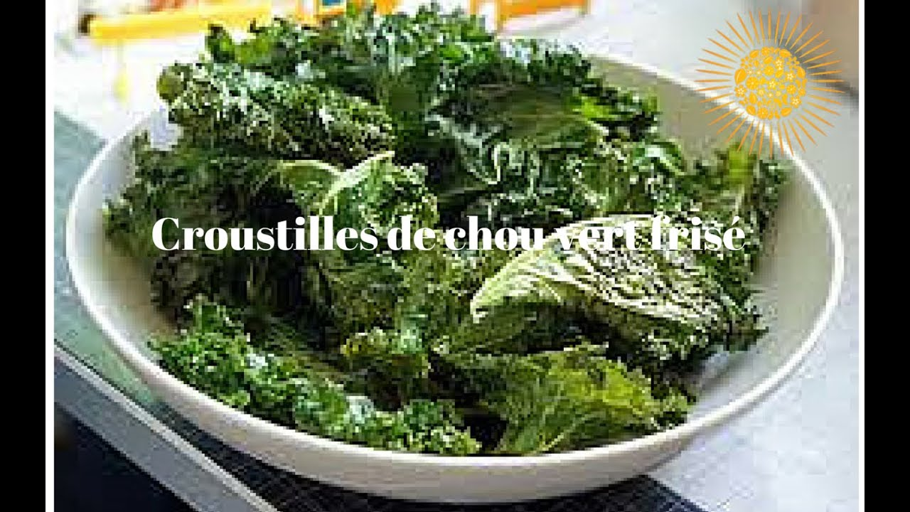 recette de croustilles de chou vert fris chips de kale youtube. Black Bedroom Furniture Sets. Home Design Ideas