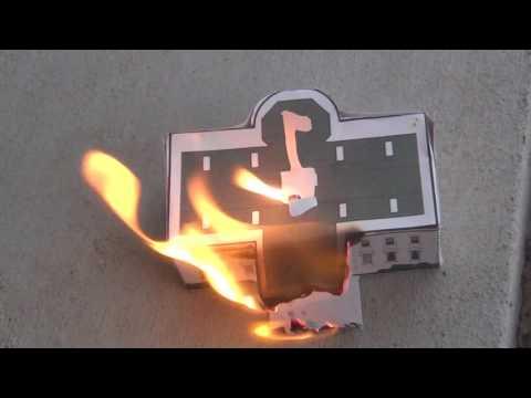 reenacting the burning of washington