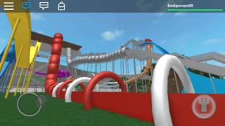 1 es baj and fun water slides on water park roblox