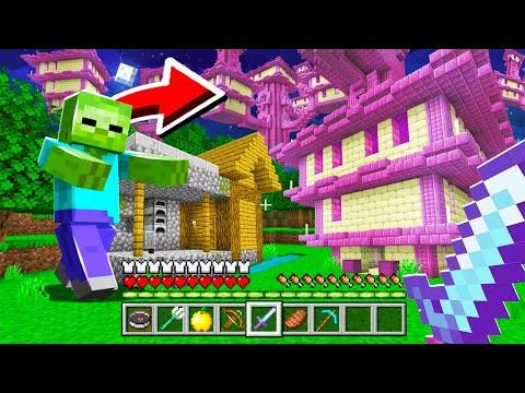 Minecraft mais les Mobs font spawn des structures Cheaté ! ( c'est trop drôle )