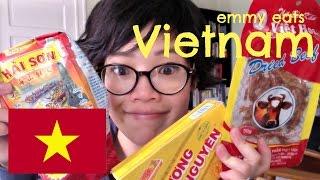 Emmy Eats Vietnam - tasting Vietnamese snacks & sweets