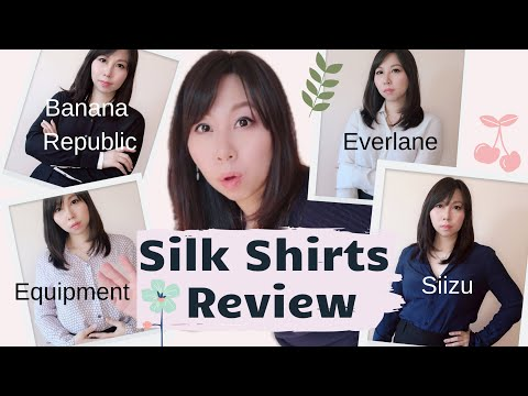 Silk Shirts Review 2020- Everlane Vs Siizu Vs Equipment Vs Banana Republic/Best Silk Shirts Brands