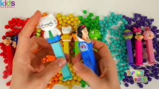 Kids Toys 2017 - Rainbow Play Doh Dippin Dots and Pez Candy Dispensers Learn Colors