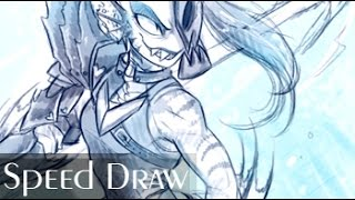 Undyne SPEED DRAW - Collab with KIWI BYRD
