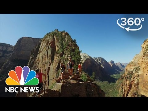 Experience The Heights Of Angels Landing In Utah's Zion National Park | 360 Video | NBC News