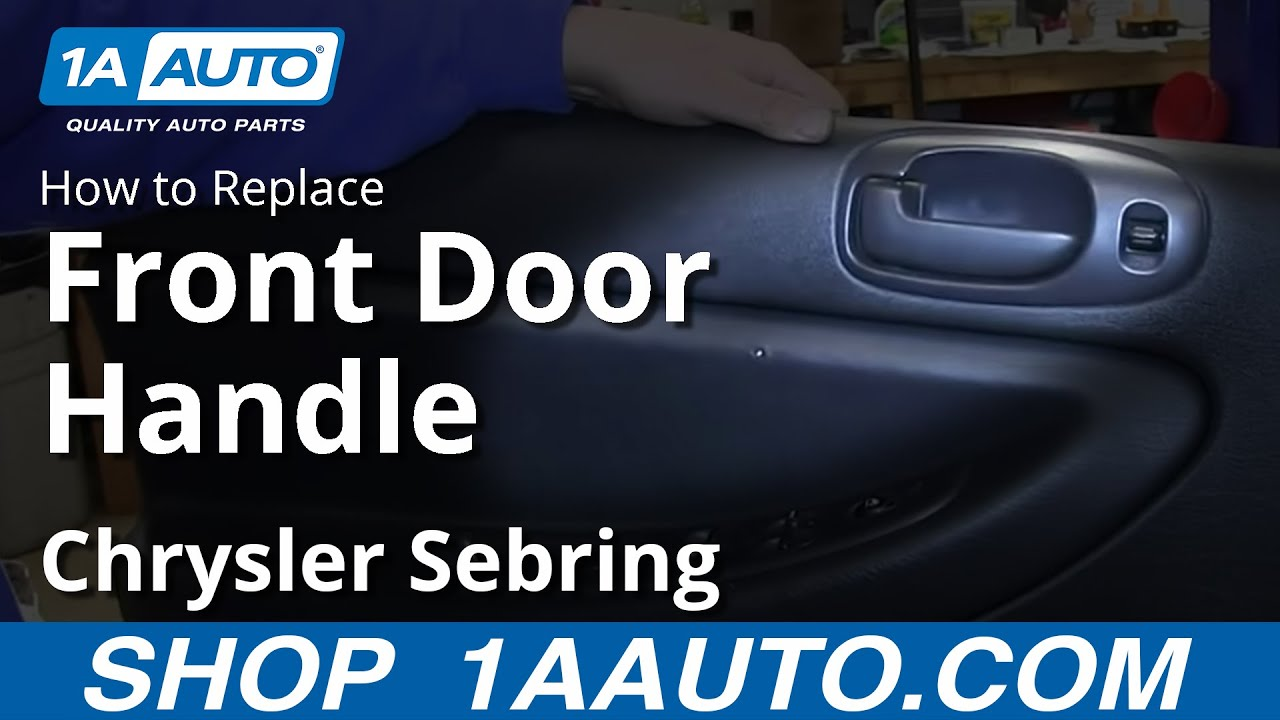 How To Install Replace Inside Front Door Handle 200106 Chrysler. How To Install Replace Inside Front Door Handle 200106 Chrysler Sebring 4 Sedan Youtube. Chrysler. Plastic Interior Parts Diagram 2008 Chrysler Sebring At Scoala.co