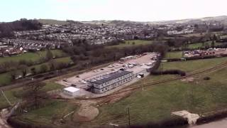 Aerial footage of South Devon Link Road