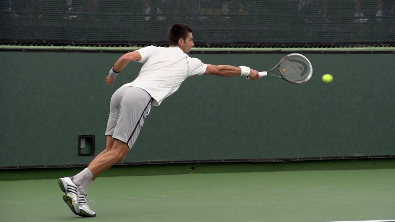 Novak Djokovic Backhand In Super Slow Motion 5 - Indian Wells 2013 - BNP  Paribas Open 36b9fe49945cc