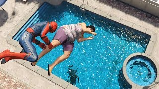 GTA 5 Water Ragdolls | SPIDERMAN Jumps/Fails #27 (Euphoria physics | Funny Moments)
