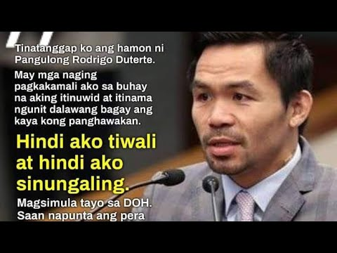 Philippines President Duterte Challenges Pacquaio Pacquaio Excepted - By Eric Pangilinan