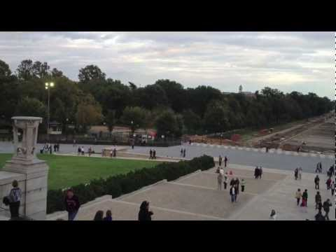 View from Lincoln Memorial in Washington DC in Full HD