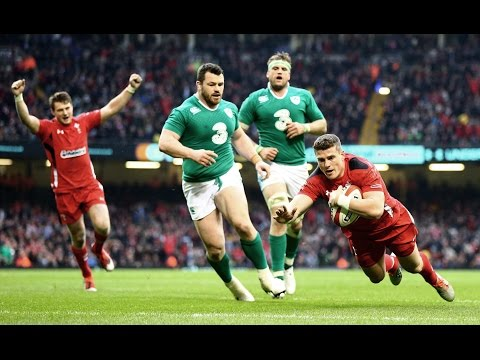 Super Scott Williams Try, Wales v Ireland, 14th March 2015