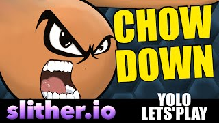 Chow Down on some bitches! - Slither.io - Yolo Let'Play