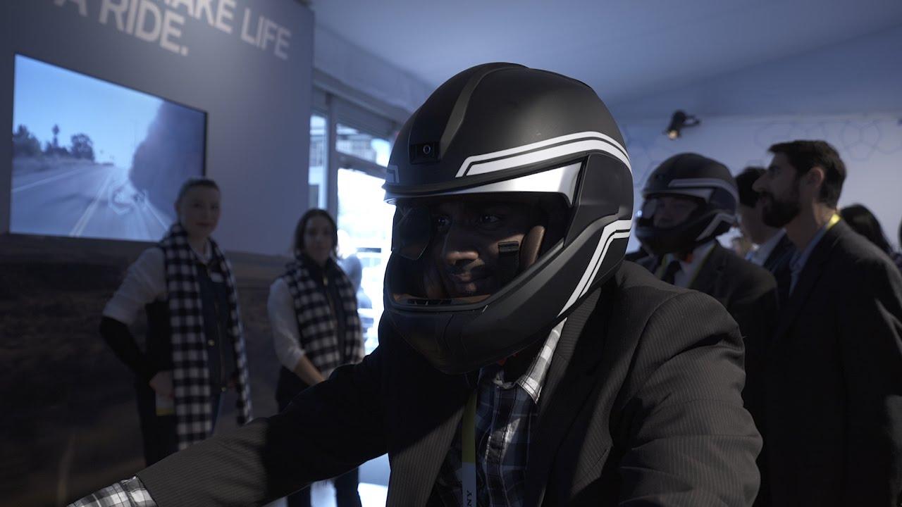 Test Drive BMW's Smart HUD Helmet - CES 2016