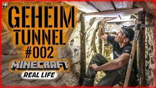 """Survival Mattin"" baut GEHEIMTUNNEL #002 | MINECRAFT Real Life | BUSHCRAFT CAMP SHELTER ÜBERNACHTUNG"