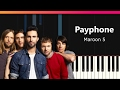 """Maroon 5 - """"Payphone"""" EASY Piano Tutorial - Chords - How To Play - Cover"""