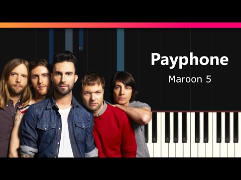 "Maroon 5 - ""Payphone"" EASY Piano Tutorial - Chords - How To Play - Cover"