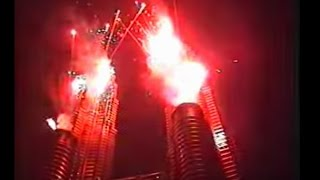 KLCC Petronas Twin Towers Grand Opening 1999 (Fireworks and laser show)
