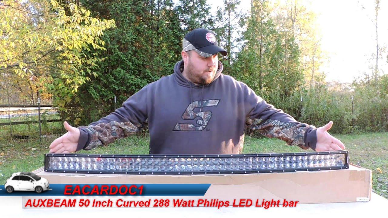 Auxbeam 50 Inch Philips Led Light Bar Review Youtube Aliexpresscom Buy 43 288w Cree Work Wiring Kit