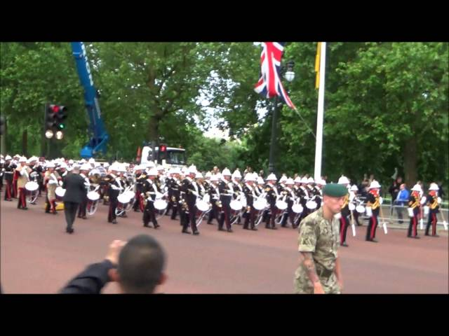 Massed Bands of H.M. Royal Marines 04-06-14 The Mall