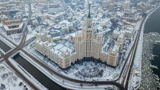 Аэросъёмка Москвы - высотка на Котельнической