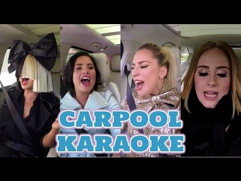 Adele vs Lady gaga vs Demi lovato vs Sia   Vocal Battle - Carpool karaoke Versión -