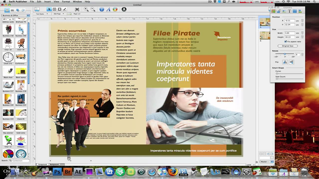 Design banner in publisher - The Best Brochure Poster Certificate Creator On Mac Swift Publisher 2 Youtube