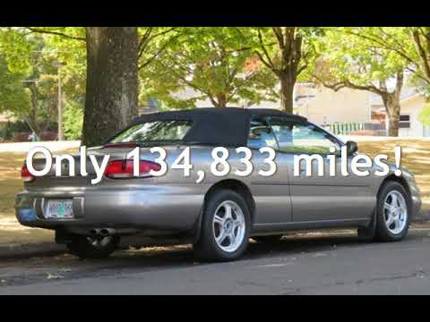 1998-chrysler-sebring-jxi-convertible,-leather,-low-miles,-or-car!-for-sale-in-portland,-or
