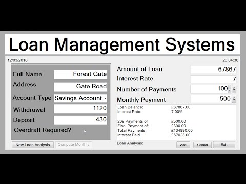 How to Create Loan Management System in Visual Basic.Net