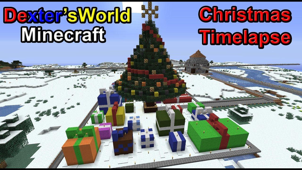 Minecraft Timelapse Christmas Tree - YouTube