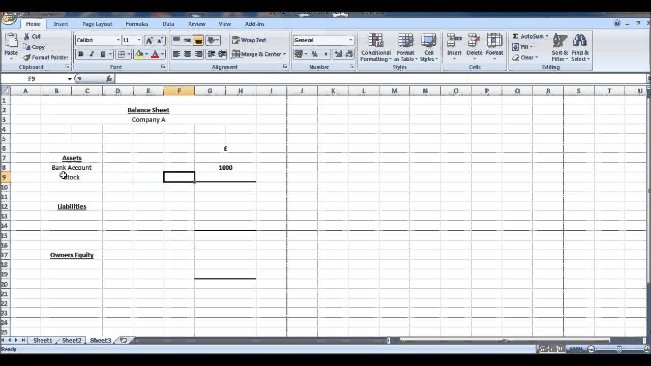free online bookkeeeping course 11 balance sheet youtube