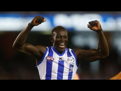 Round 4 2013 Majak Daw S Huge Mark And First Ever Afl