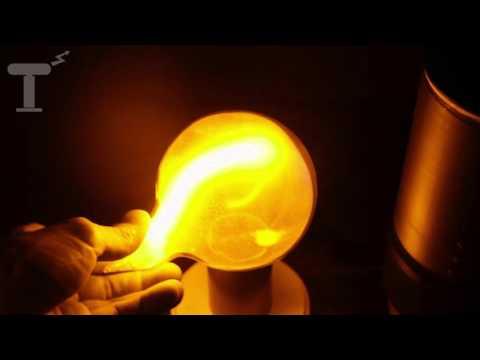 Ярко-жёлтый плазменный шар
