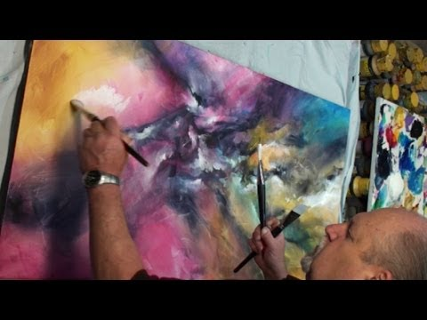 Abstract Art painting 'VERTIGO' Color Explosion Modern Mix Lang How to DEMO