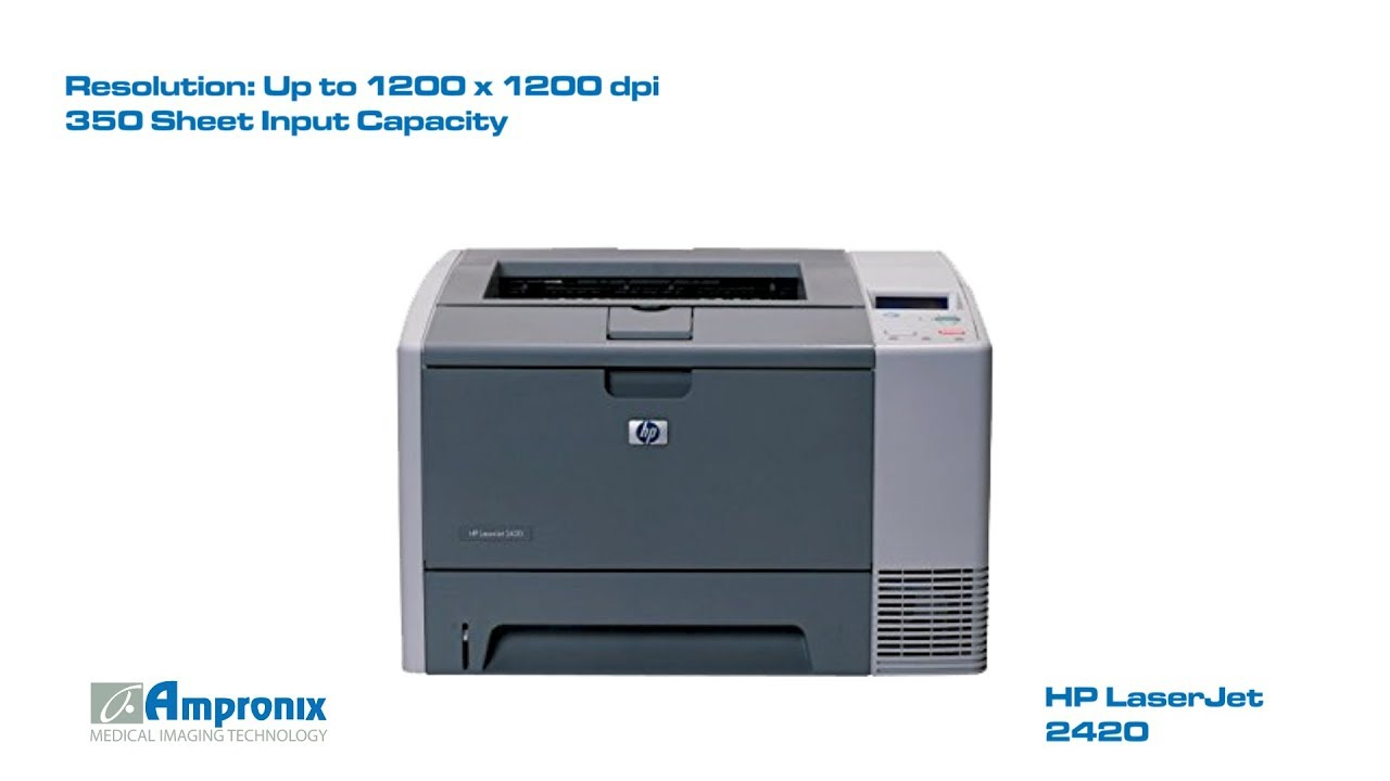 HP 2420DN LASERJET DRIVERS UPDATE