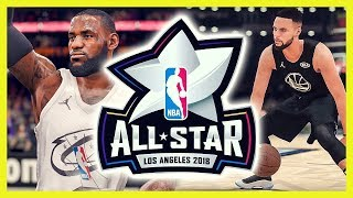connectYoutube - NBA ALL STAR GAME 2018 - NBA 2K18 vs NBA LIVE 18 | Deutsch / German