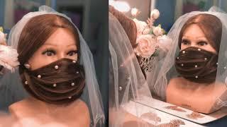 Маска для лица из волос Прическа на средние волосы face mask of hair LOZNITSA