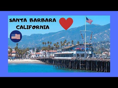 The beautiful SANTA BARBARA PIER in CALIFORNIA (USA)