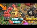 "DRAGON'S LAIR vs SKELETON BARREL - NEW Halloween TROOP in ""Clash of Clans"""