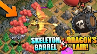 "DRAGON'S LAIR vs SKELETON BARREL - NEW Halloween TROOP in ""Clash of Clans"""
