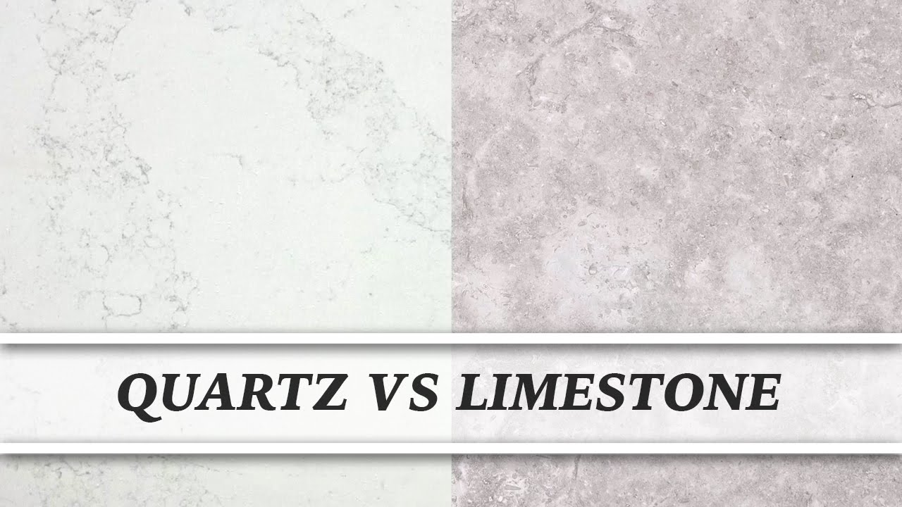 5 7 Vs 610 Limestone Stone : Quartz vs limestone countertop comparison youtube