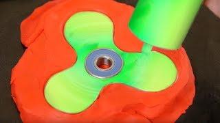 DIY Neon Liquid Gallium Fidget Spinner
