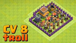 LAYOUT TROLL CV 8 DEFENDE TUDO?! CLASH OF CLANS