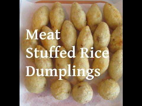 Iraqi Stuffed Rice Dumpling-kubba Haleb/ كبة الحلب- كبة الرز المحشية/ #Recipe158CFF / #cffrecipes