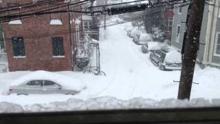 Winter Storm Juno; 9:40 am - 1:20 pm Jan 27; Cambridge, MA; Angle 2